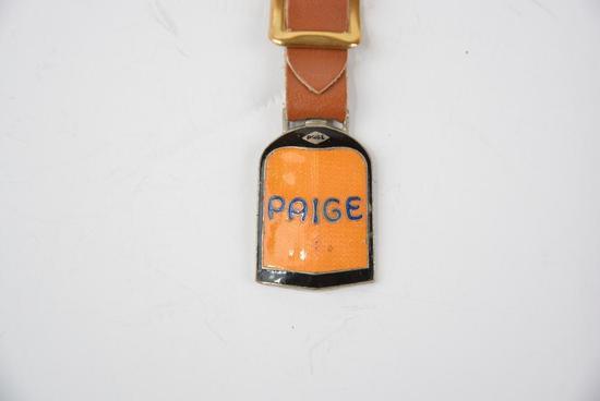 Paige Automobile Enamel Metal Watch Fob