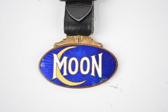 Moon Motor Car Company Enamel Metal Watch Fob