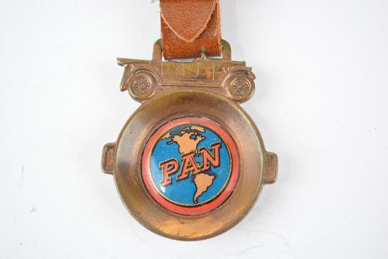 Pan Automobile Metal Watch Fob