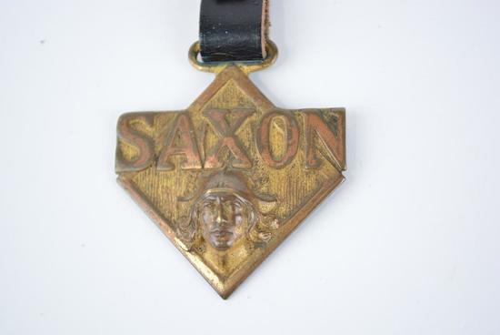 Saxon Automobile Metal Watch Fob