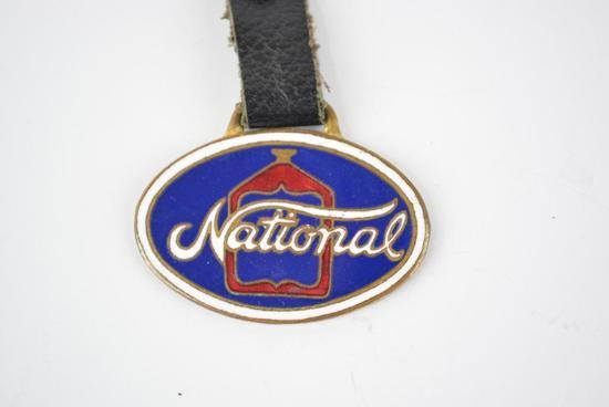 National Automobile Enamel Metal Watch Fob