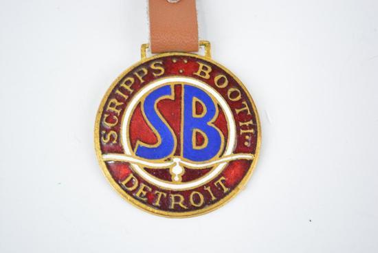 Scripps Booth Automobile Enamel Metal Watch Fob