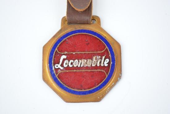 Locomobile Automobile Enamel Metal Watch Fob