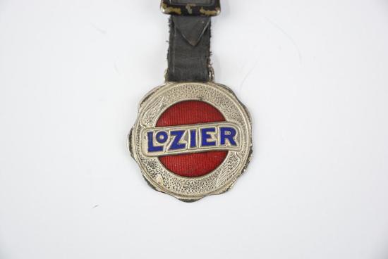 Lozier Automobile Enamel Metal Watch Fob