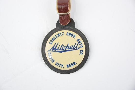 Mitchell Automobile Celuloid and Rubber Watch Fob