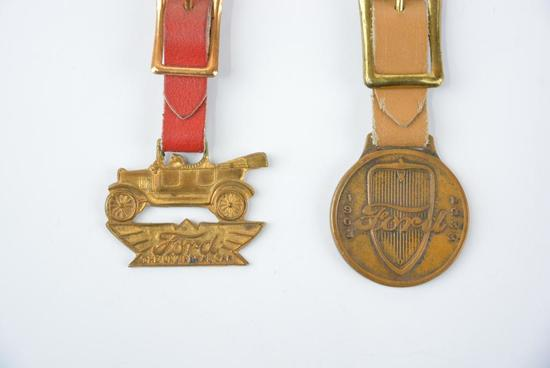 2- Ford Metal Watch Fobs