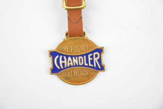 Chandler Automobile Enamel Metal Watch Fob