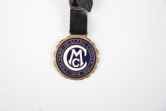 Chalmers Motor Co. Enamel Metal Watch Fob