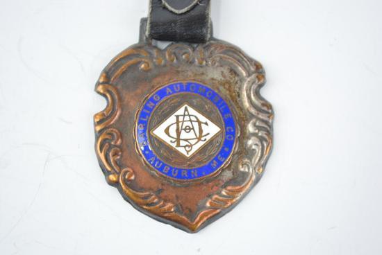 Darling Automobile Company Enamel Metal Watch Fob