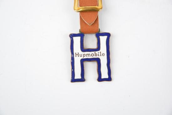 Hupmobile Automobile Enamel Metal Watch Fob