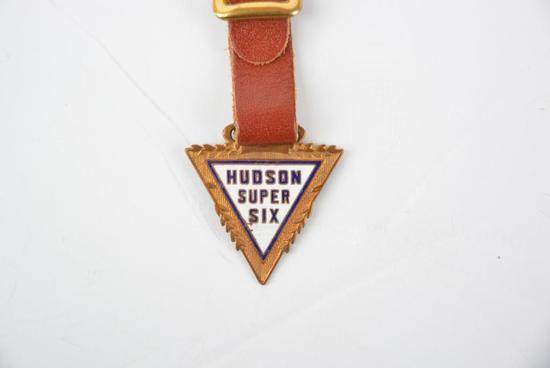 Hudson Automobile Enamel Metal Watch Fob