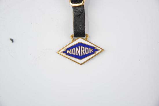 Monroe Automobile Enamel Metal Watch Fob