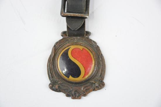 Selden Motor Company Celluloid and Metal Watch Fob