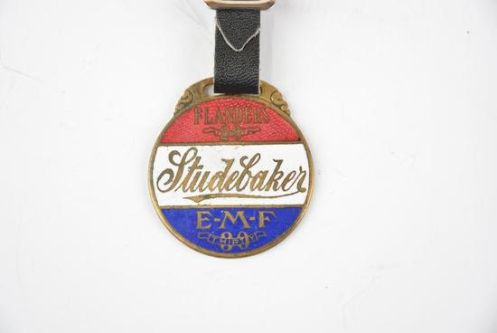 Studebaker Automobile Enamel Metal Watch Fob