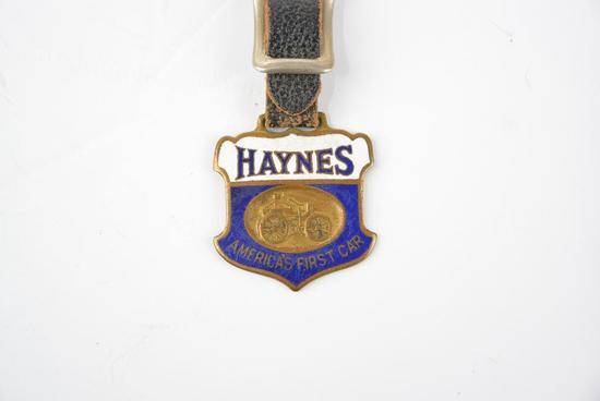 Haynes Automobile Enamel Metal Watch Fob