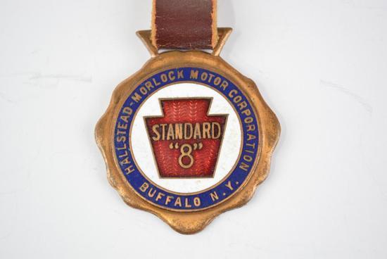 Hallstead-Morlock Motor Corporation Enamel Metal Watch Fob