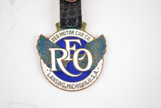 REO Automobile Enamel Metal Watch Fob