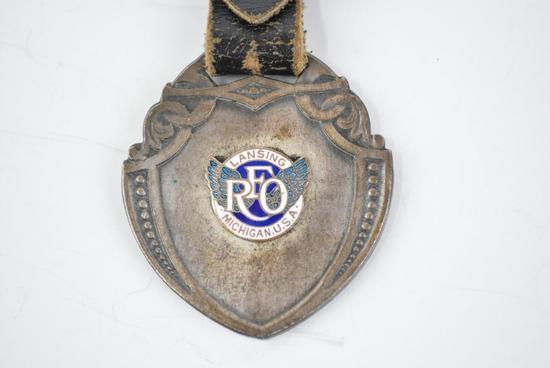 REO Motor Car Company Enamel Metal Watch Fob