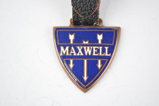 Maxwell Automobile Enamel Metal Watch Fob
