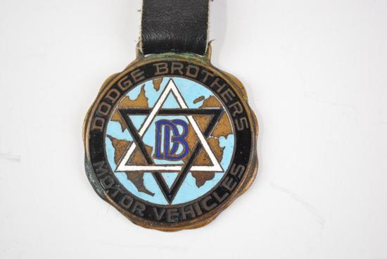 Dodge Brothers Automobile Enamel Metal Watch Fob