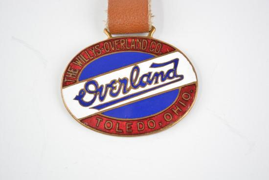 WIllys-Overland Automobile Enamel Metal Watch Fob