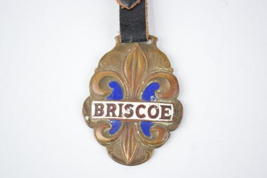 Briscoe Automobile Enamel Metal Watch Fob