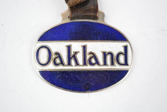 Oakland Automobile Enamel Metal Watch Fob