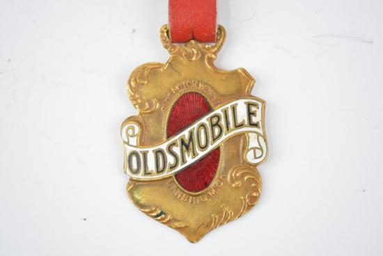 Oldsmobile Automobile Enamel Metal Watch Fob