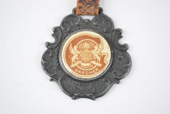 Gardner Automobile Celluloid Metal Watch Fob