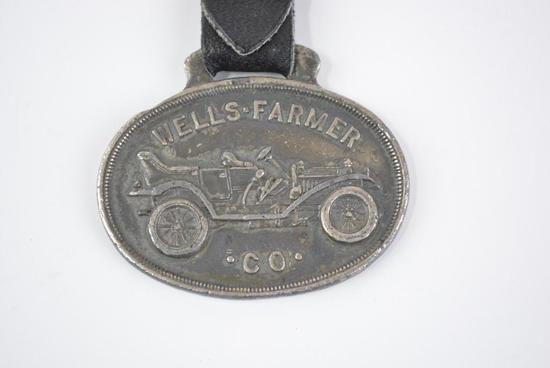 Wells-Farmer Automobile Metal Watch Fob