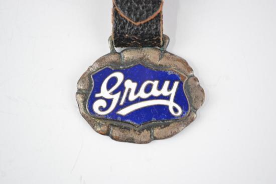 Gray Automobile Enamel Metal Watch Fob