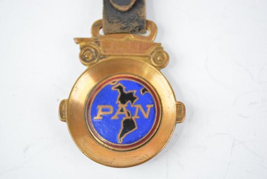 Pan Automobile Enamel Metal Watch Fob