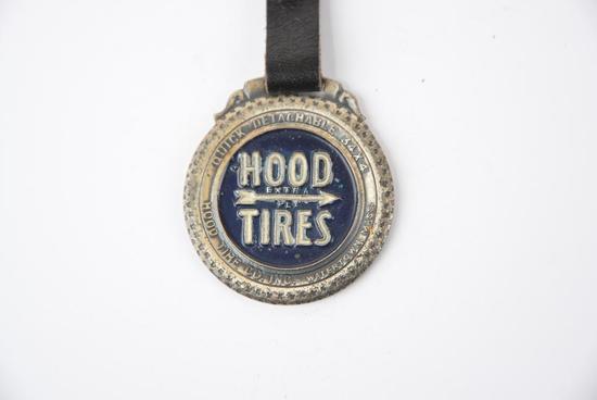 Hood TIres enamal metal watch fob