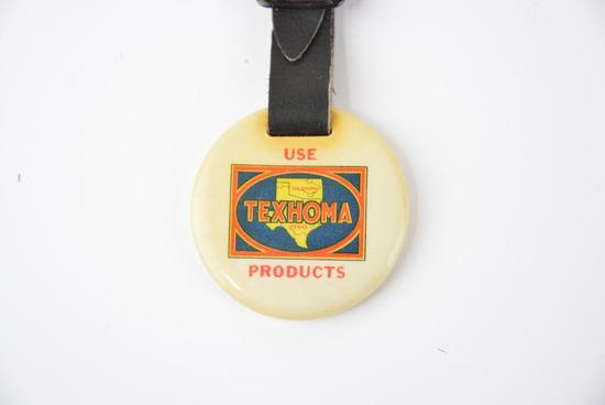Use Texhoma Products Celluloid Watch Fob