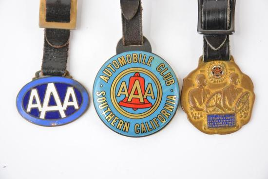 3-AAA Auto Club of America watch fobs