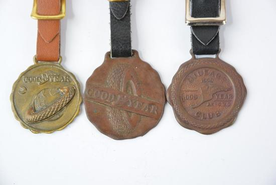 3-Goodyear Tires metal watch fobs