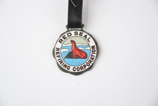 Red Seal Refining Corportation Enamel Watch Fob