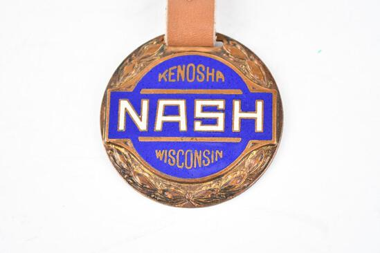 Nash Automobile Enamel Metal Watch Fob