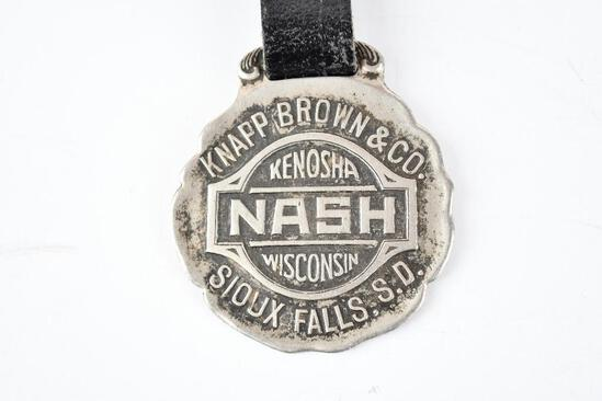 Nash Automobile Metal Watch Fob