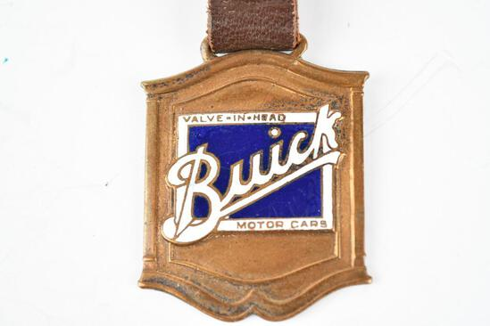 Buick Automobile Enamel Metal Watch Fob