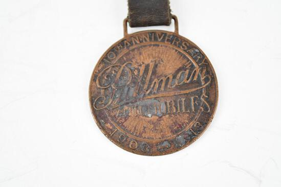 Pullman Automobile Company Metal Watch Fob