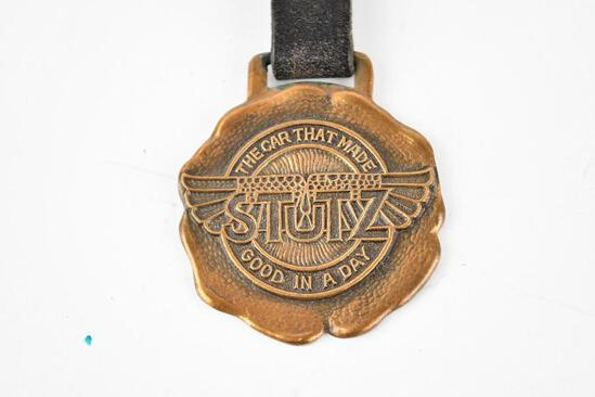 Stutz Automobile Metal Watch Fob