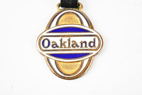 Oakland Automobile Enamel Metal Watch Fob