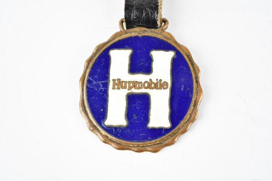 Hupmobile Automobile Enamel Metal Watch Fob