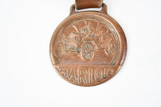 Marion Automobile Metal Watch Fob