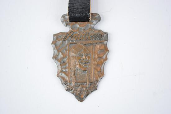 Indian Motorcycle Metal Watch Fob