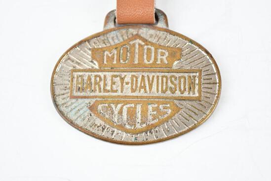 Harley-Davidson Motor Cycles Metal Watch Fob
