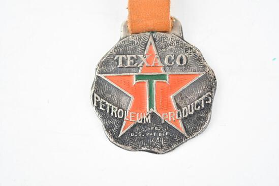 Texaco Petroleum Products Metal Watch Fob