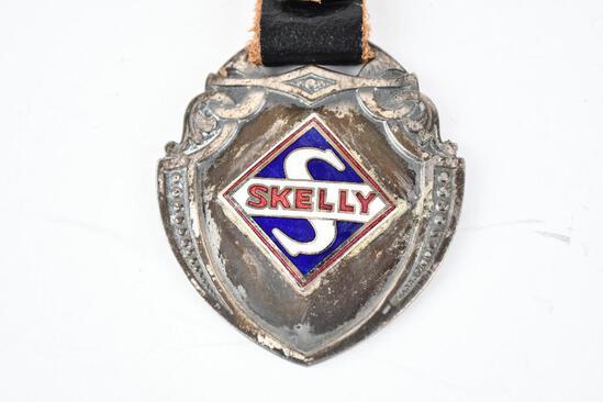 Skelly Enamel Metal Watch Fob