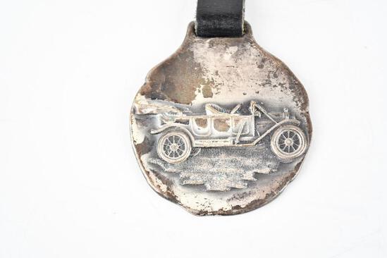 Zerolene OIl Company Metal Watch Fob